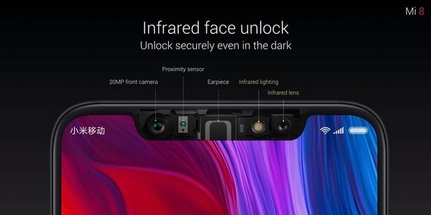Xiaomi Mi 8 Face Unlock