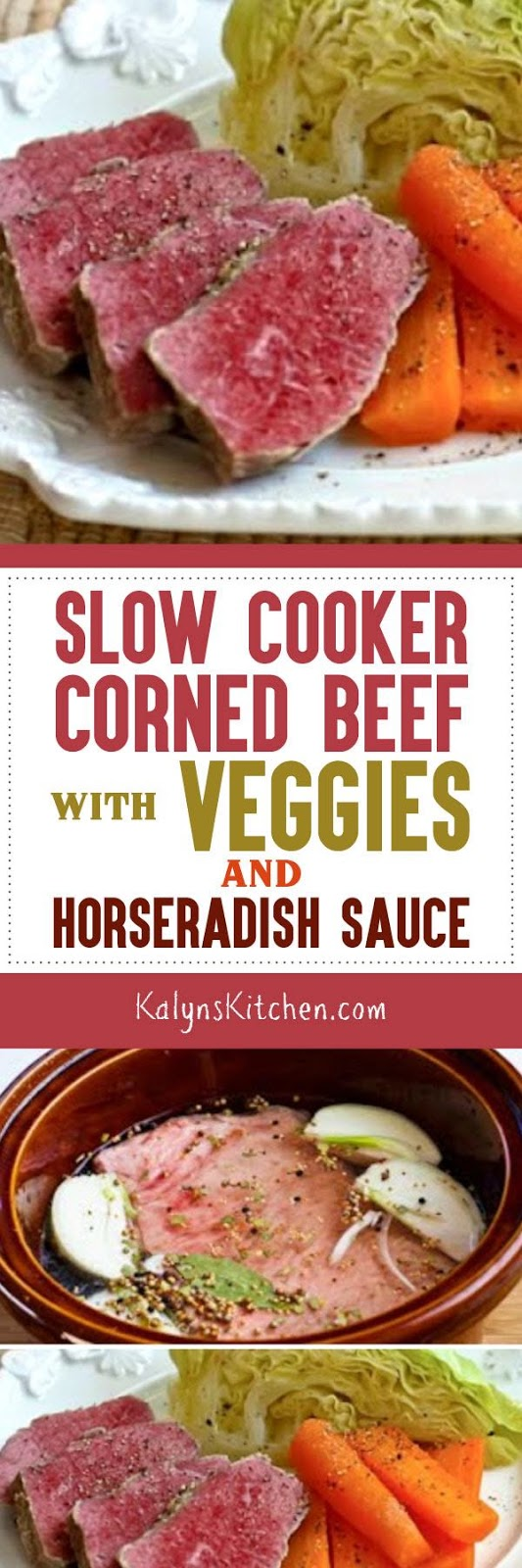 ... Kitchen®: Slow Cooker Corned Beef with Veggies and Horseradish Sauce