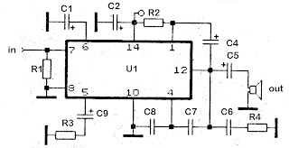 10W schematic amplifier with KA2202 , KA2207