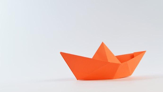 Wallpaper: Origami Paper Boat