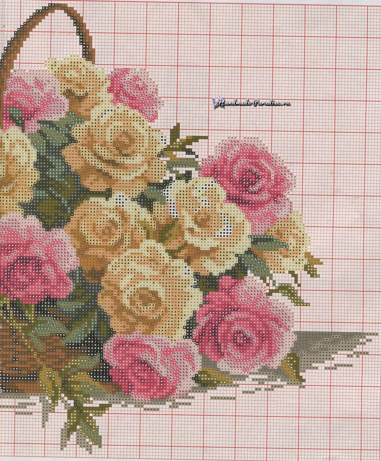 Схема вышивки красивая роза