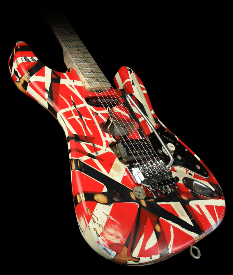 south shields guitar lessons how to paint your own eddie van halen frankenstein guitar. Black Bedroom Furniture Sets. Home Design Ideas