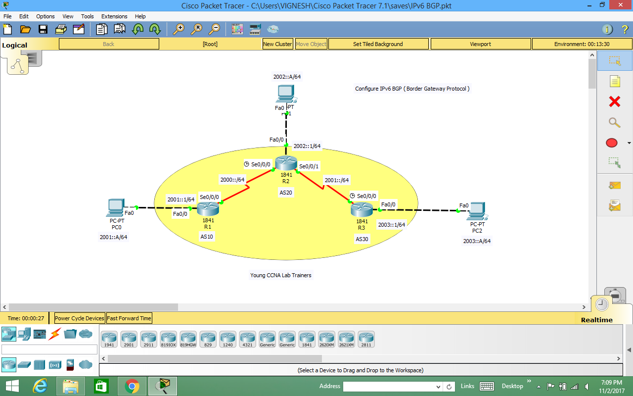 Young CCNA Lab Trainers: IPv6 BGP Local preference