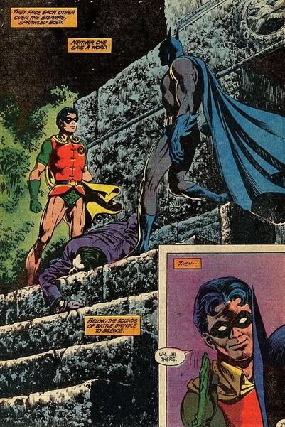 panel from Batman #366 (1983). Property of DC comics.