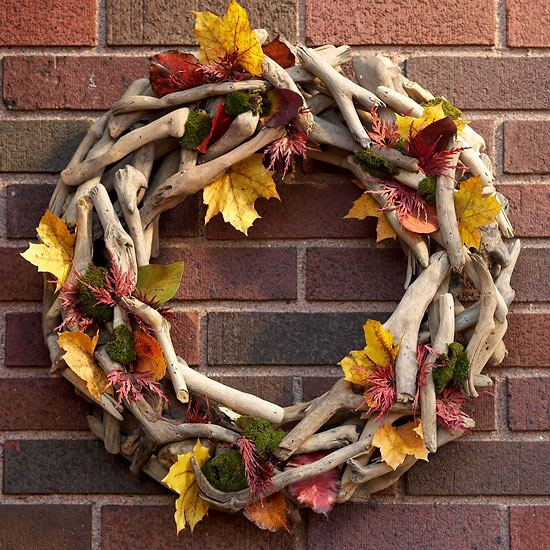 Wreath Made Of Driftwood