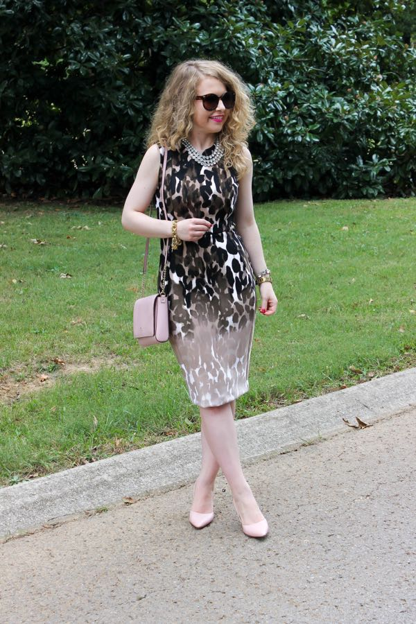 Calvin Klein Animal Print Sheath Dress, Lawyer Lookbook