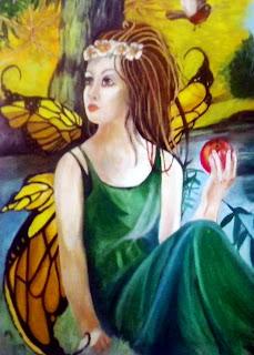 EVE SITTING IN THE GARDEN OF EDEN