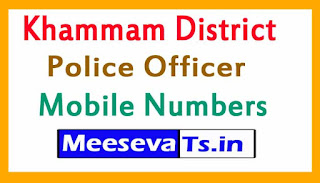 Khammam District Police Office Mobile Numbers List in Telangana State
