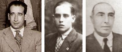 Los ajedrecistas Rafael Doménech, Àngel Ribera y Ramón Cunillera