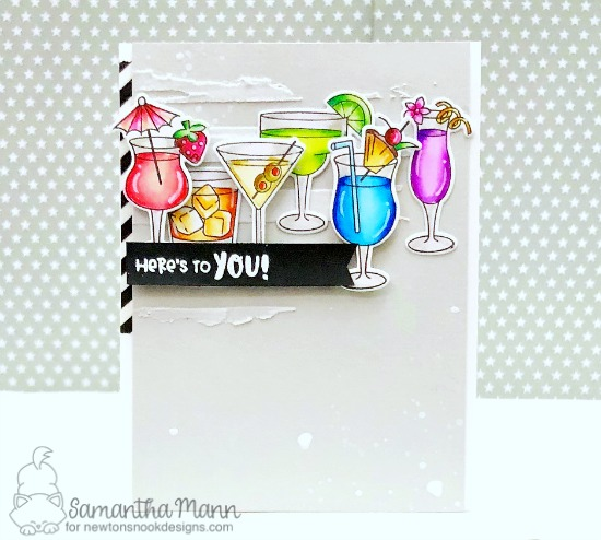 Here's to You Card by Samantha Mann | Cocktail Mixer Stamp Set by Newton's Nook Designs #newtonsnook #handmade