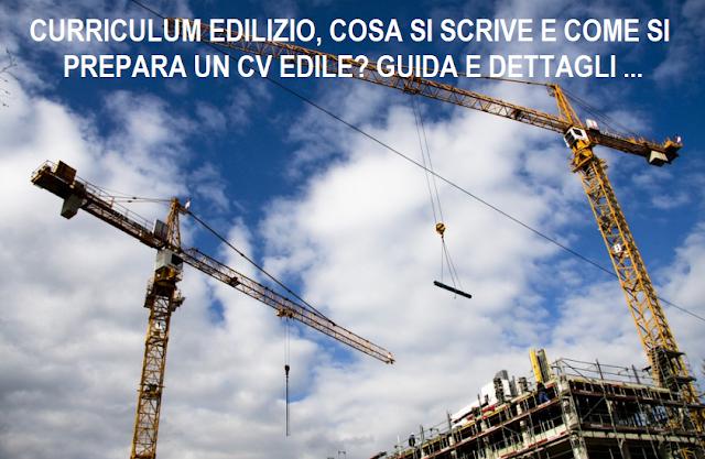 CV per impresa edile e curriculum edilizio