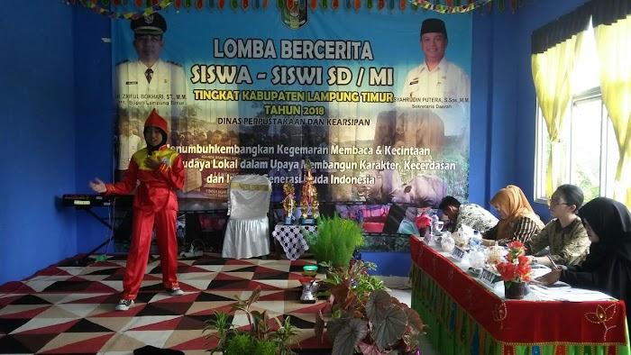 Lomba Bercerita Siswa/Siswi SD/MI Tingkat Kabupaten di Aula BP&K