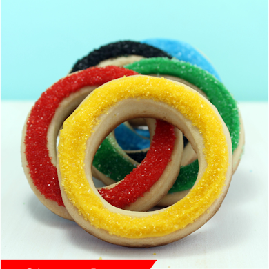 Olympic Ring Sugar Cookies Recipe