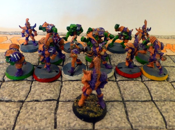 Bloodbowl 2nd ed Underdark Dynamos team pose
