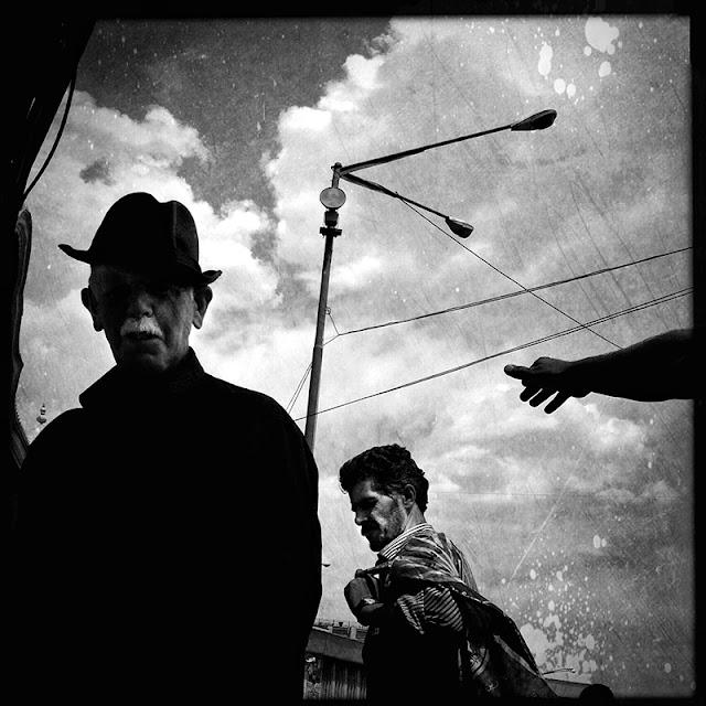 black and white street photography tehran iran