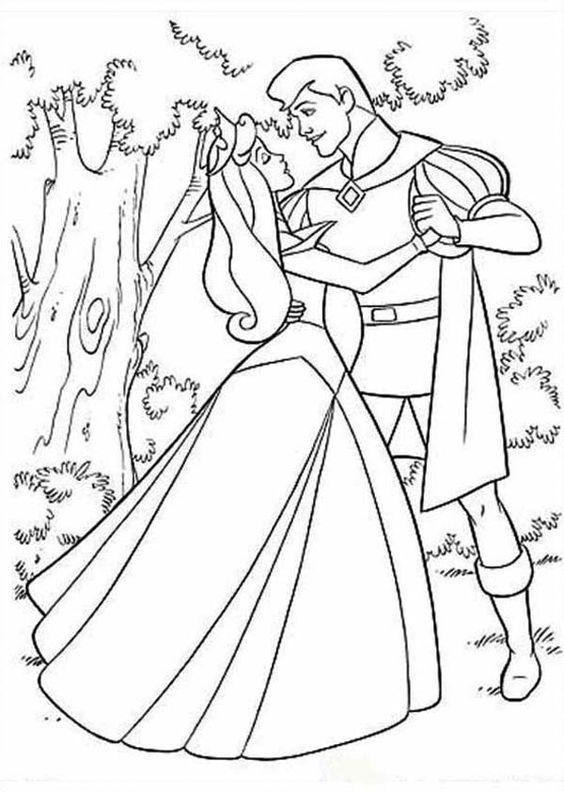 Tranh tô màu nàng công chúa ngủ trong rừng 4