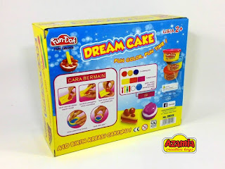 mainan anak perempuan 3 tahun, grosir fun doh surabaya, fun doh dream cake