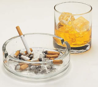 toxicidad por alcohol y tabaco