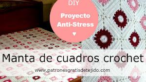 Cómo Tejer una Manta con Cuadros Crochet / DIY