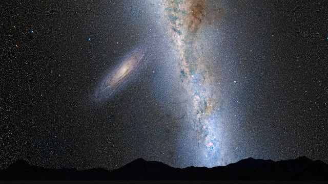 andromeda milky way collision