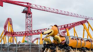 Hollywood Studios Slinky Dog Roller Coaster Train Arrives on Disney Property