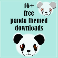round-up of panda freebies
