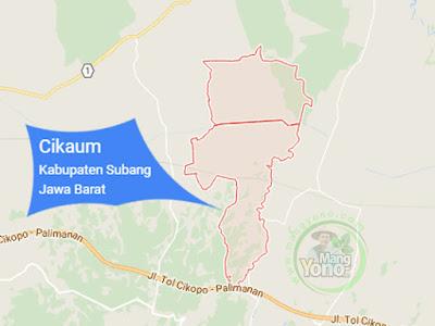 PETA : Kecamatan Cikaum, Kabupaten Subang, Jawa Barat