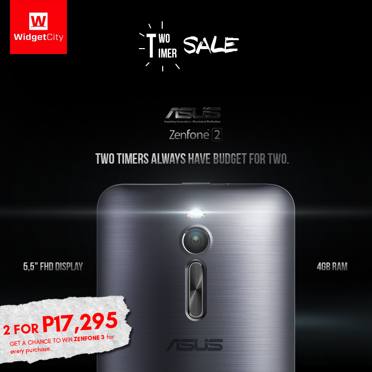 ASUS Zenfone 2 Two Timer Promo