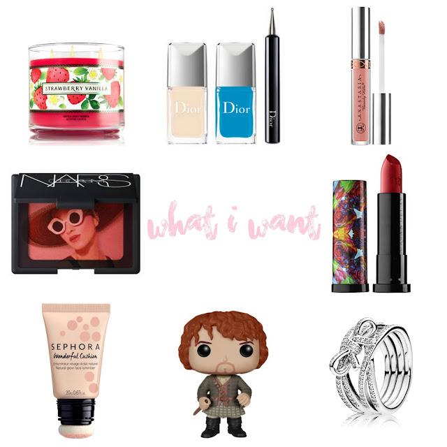 Je vous montre ma wishlist du mois de mai 2016 par clowy. Mes futurs achats maquillage, beauté, bijoux