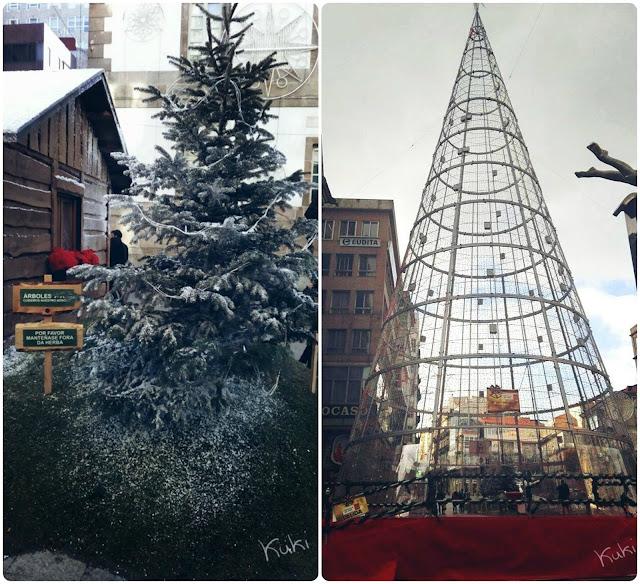 calle del principe, Vigo, decoração de natal, Navidad, pinheiro de Natal