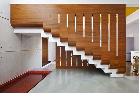 Latest Modern Stairs Designs Ideas Catalog 2019 | Interior Steps Design For Hall | Modern Drawing Room Tv Cabinet | Decorative | Architecture | Half Circle Staircase | Model House Hall