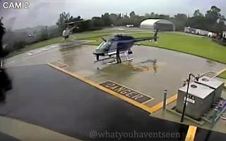 Απίστευτο ατύχημα μεταξύ δύο ελικοπτέρων της αστυνομίας (βίντεο)