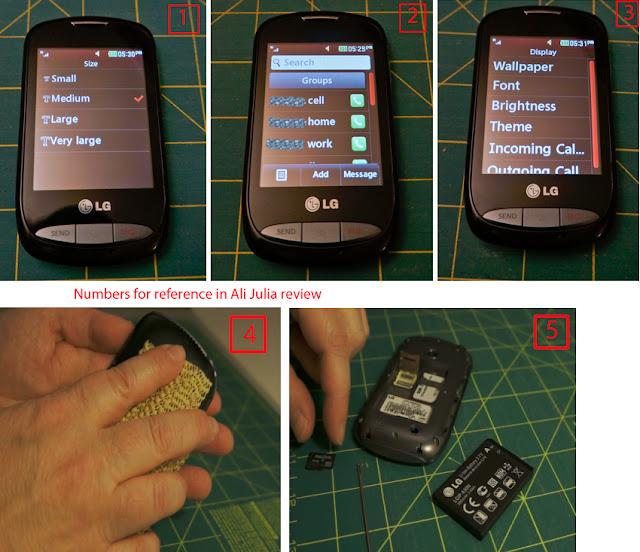 Ali Julia Product Reviews: Product Review: LG 800G Prepaid