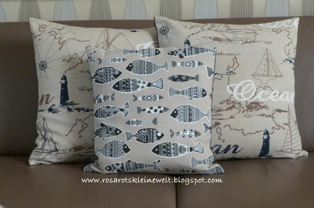 rosarot 39 s kleine welt kissen im maritimen design. Black Bedroom Furniture Sets. Home Design Ideas