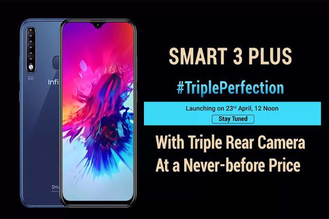 Infinix Smart 3 Plus With Triple Camera Mobile, Buy Online Only At Flipkart 30 April @10:00