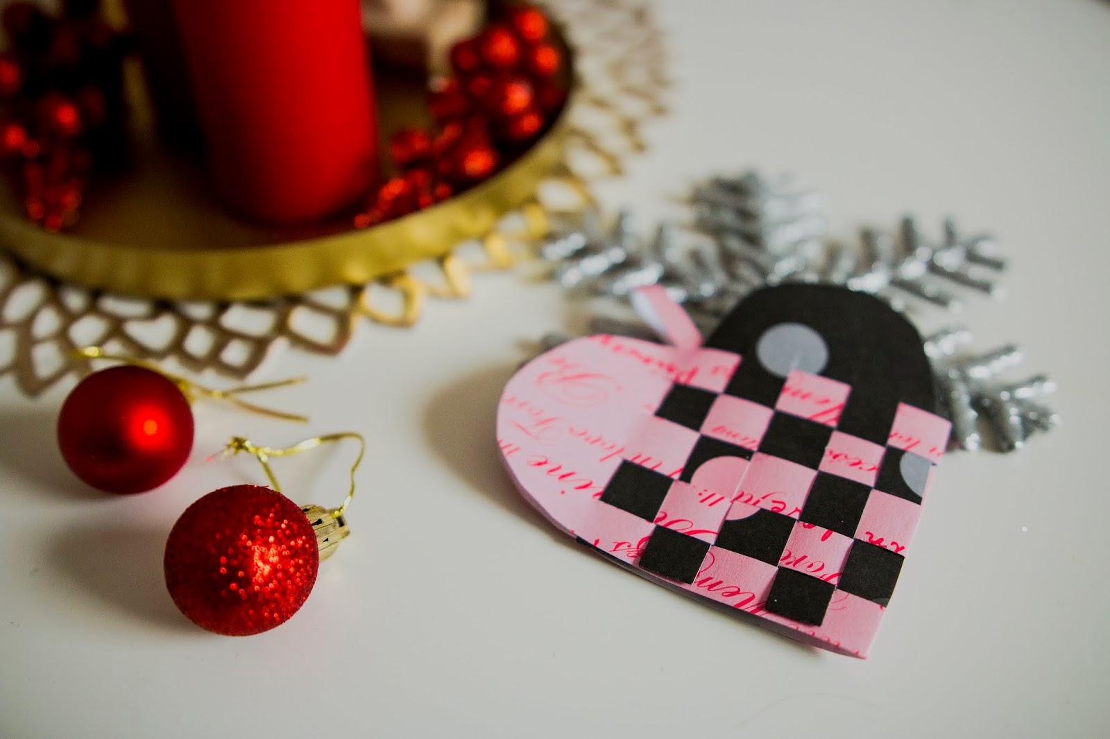 Julehjerte, duńska dekoracja świąteczna z papieru