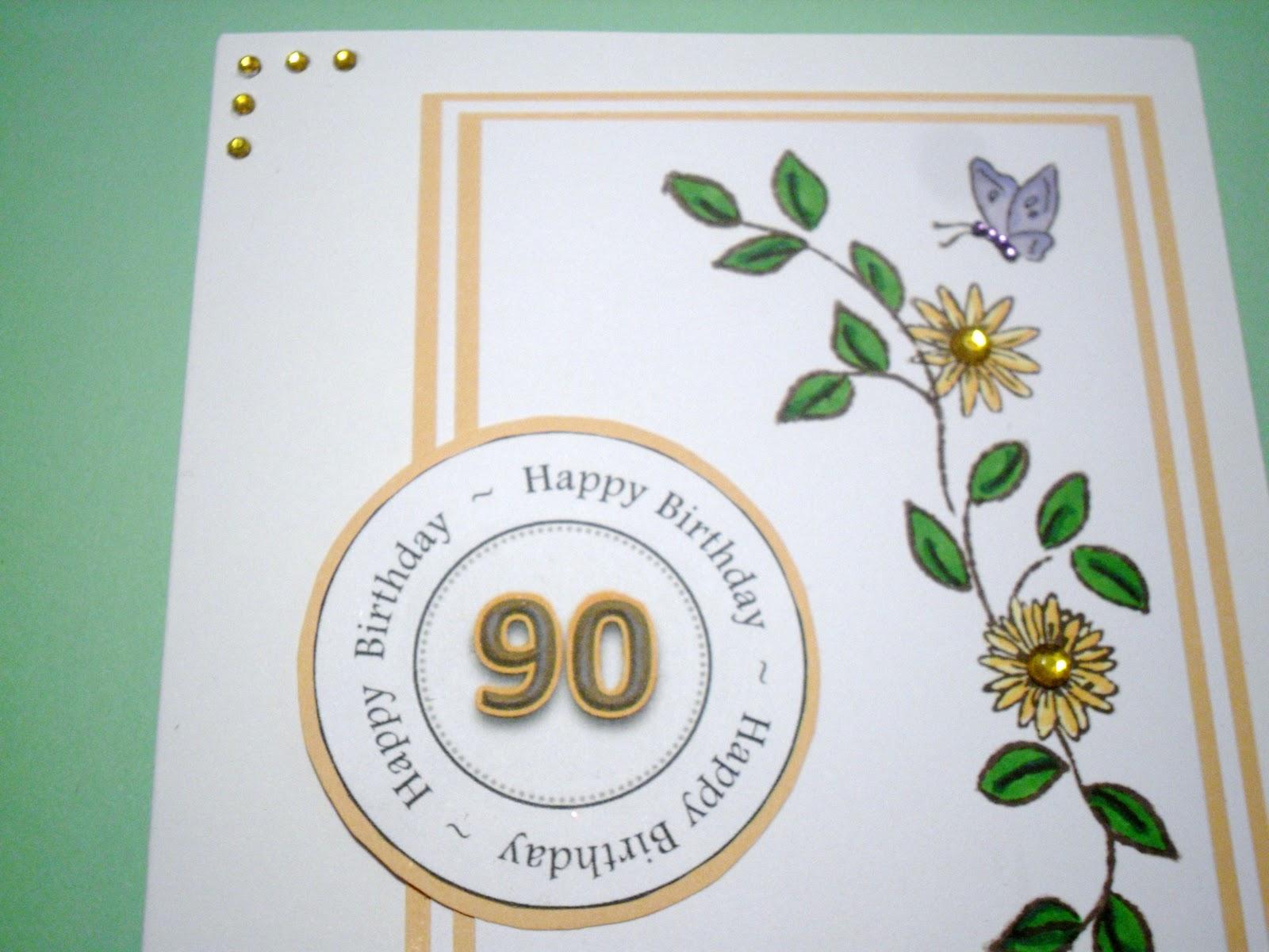 90 Year Old Birthday Card