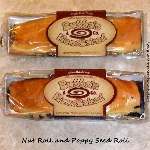 bubbas homebaked package of nut and poppy seed roll
