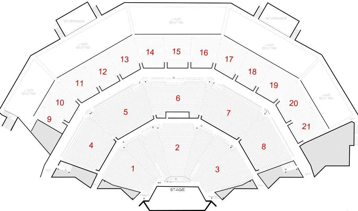 American Family Insurance Amphitheater Summerfest Milwaukee  - marcus amphitheater seating