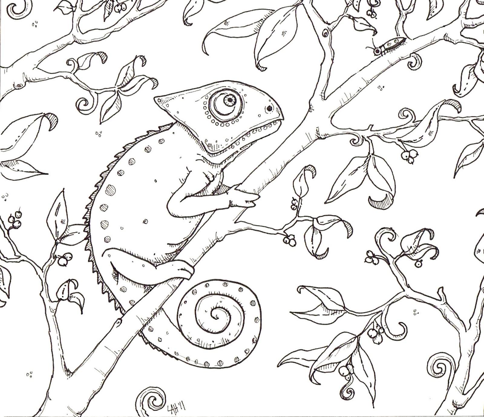 Chameleon Coloring Page on Chameleon Coloring Page Chameleons Worksheets And Kindergarten
