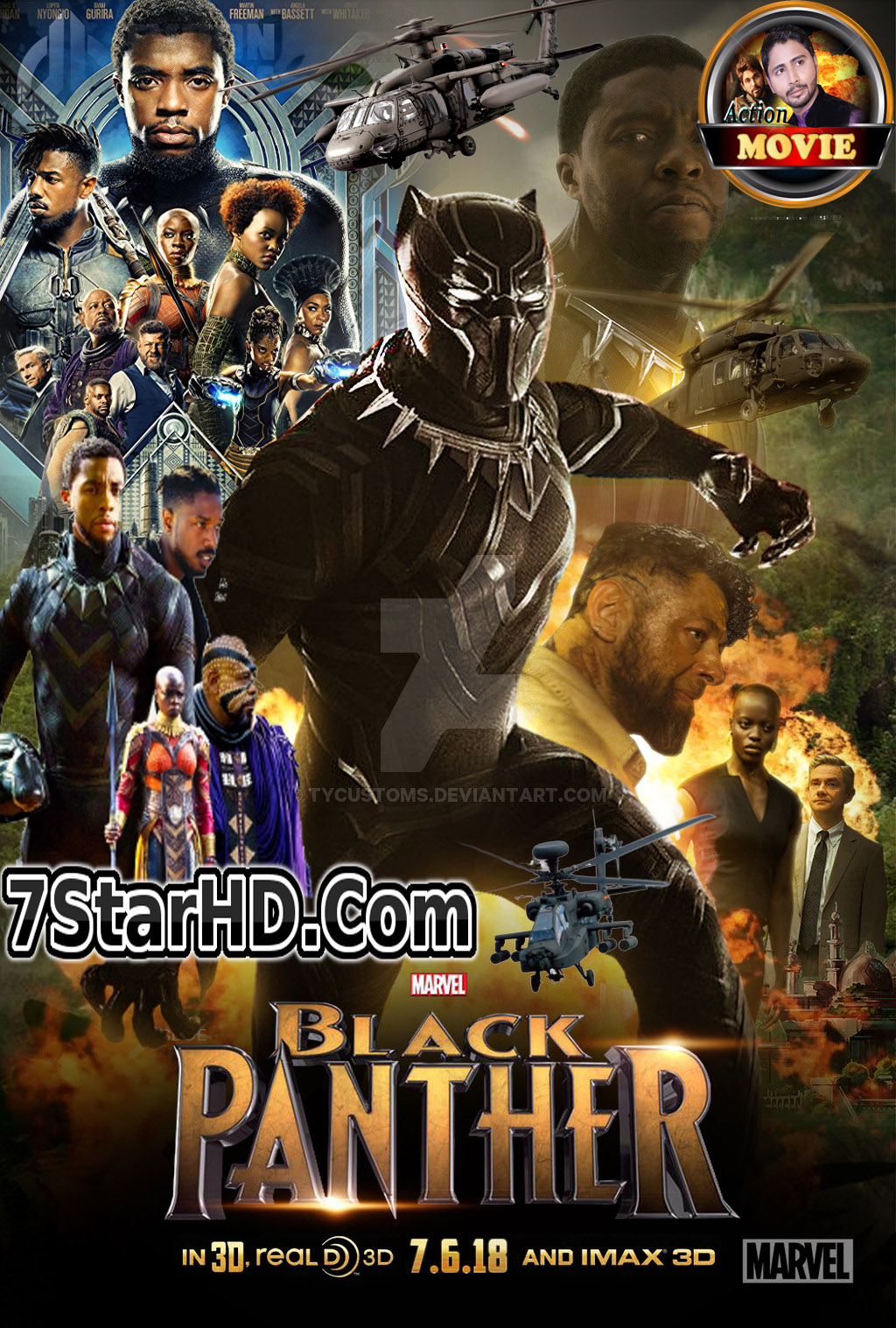 Black Panther 2018 New Dual Audio 720p HC HDTC x264 [Hindi – English]