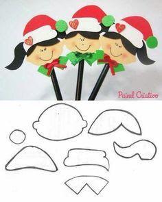 DIY - Decoração de Natal Com Feltro Super Fácil de Fazer Com Moldes 30