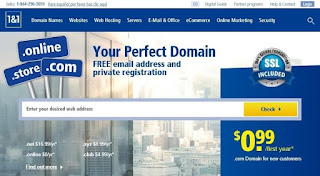 1and1 free domain