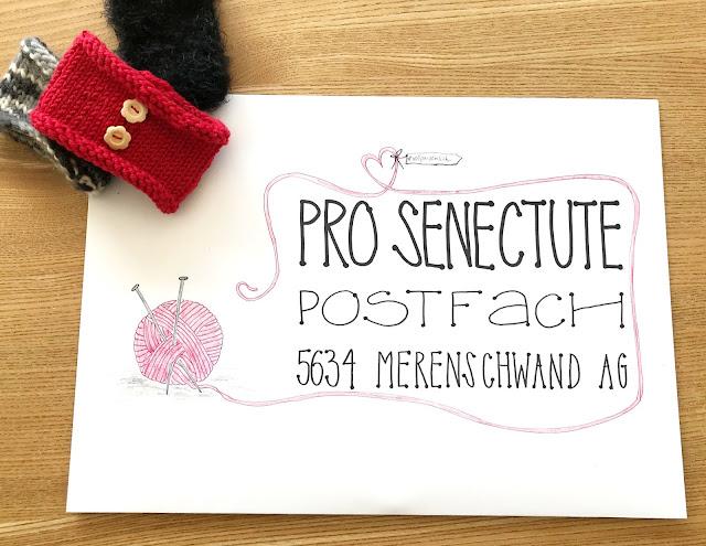 mit Strich und Faden: Brief Pro Senectute