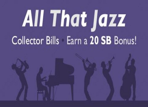 Swagbucks All That Jazz Collector Bills Earn 20SB Bonus