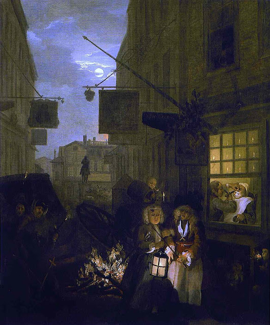 William Hogarth nightlife street