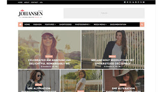 Johansen magazine blogger template responsive