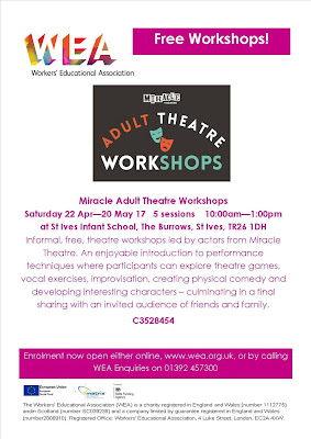 Adult Theatre Workshops with Miracle Theatre
