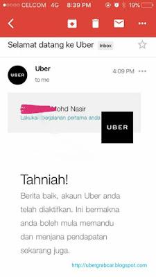 uber driver registration