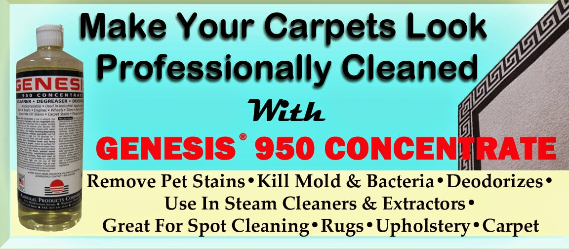 Make Your Carpets Look Professionally Cleaned With Genesis 950